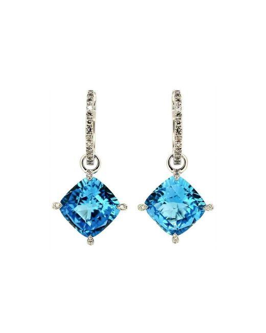 Kura Fine Jewellery   Emilie Blue Topaz Earrings   Lyst