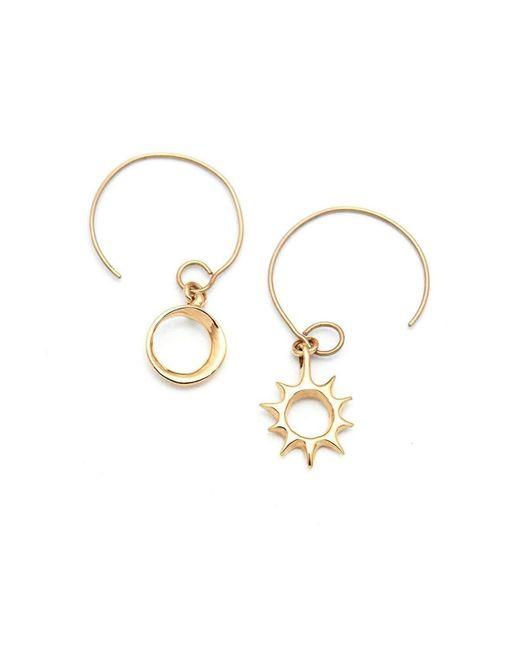ileava jewelry - Multicolor Gold Lani Sun & Eclipse Hoop Earrings | - Lyst