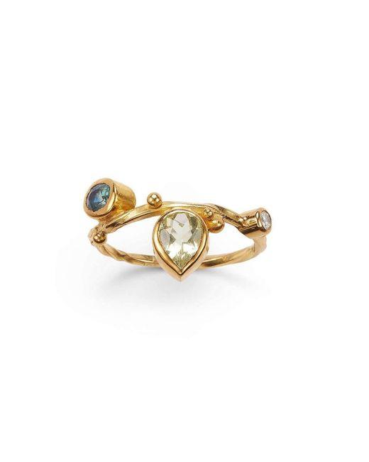 Bergsoe - Metallic Blue Sapphire Seafire Ring - Lyst