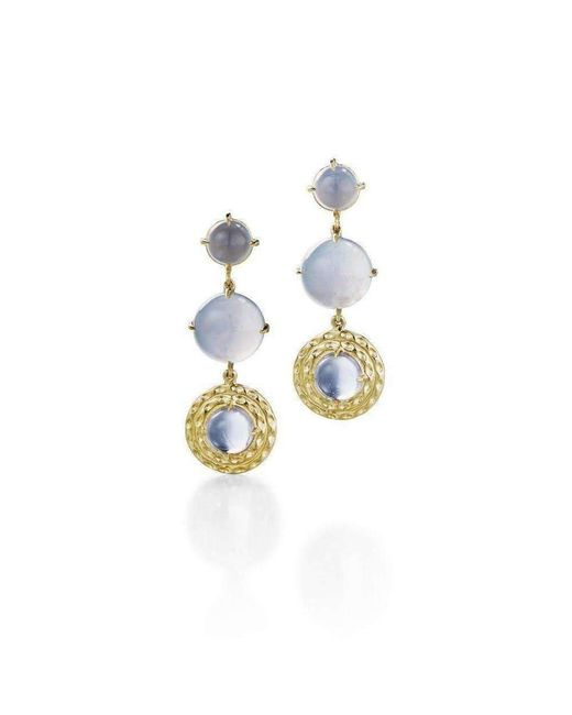 Daria de Koning - Metallic Double Orbit Long Earrings - Lyst