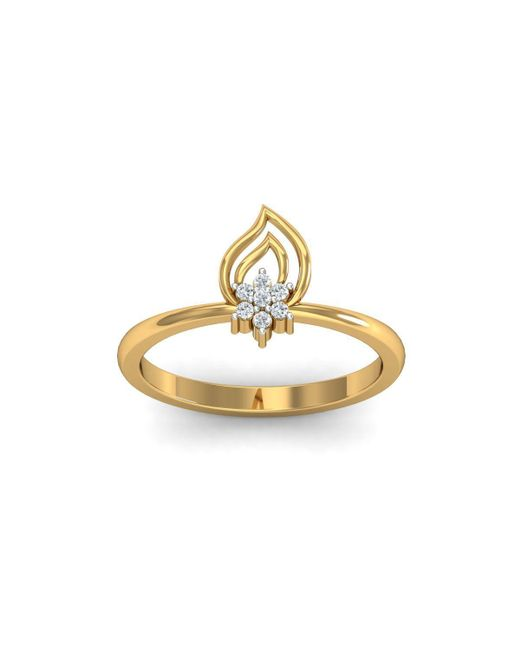 Diamoire Jewels - Metallic 18kt Yellow Gold Pave 0.07ct Diamond Infinity Ring I - Lyst
