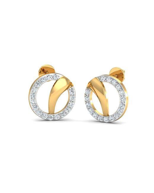 Diamoire Jewels Diamond Pave Earrings in 18kt White Gold LJR98C