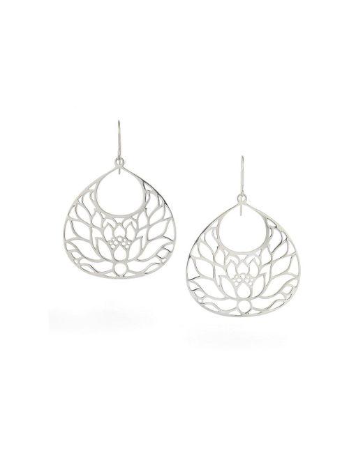 House of Alaia - Metallic Large Lotus Flower Earrings In Silver - Lyst