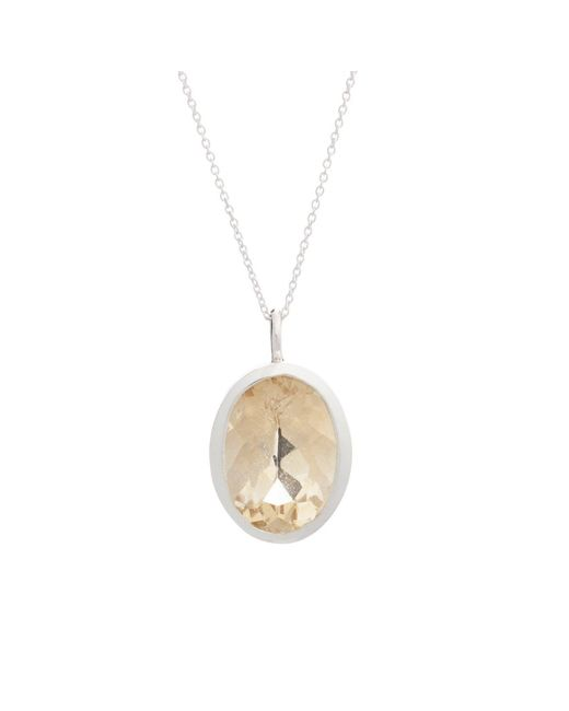Augustine Jewels - Metallic Citrine Silver Necklace - Lyst