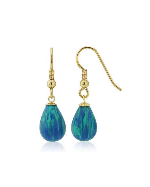 Lavan Blue Opal Teardrop Earrings jkNnIA
