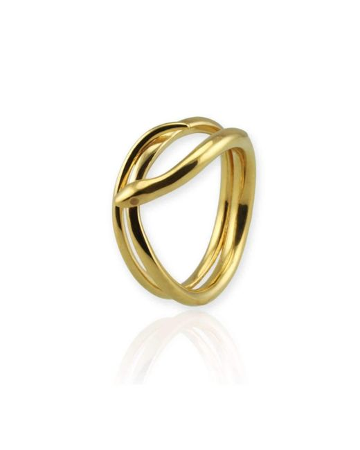 Jana Reinhardt Jewellery - Metallic Coiled Snake Ring In Yellow Gold Plated Silver - Lyst