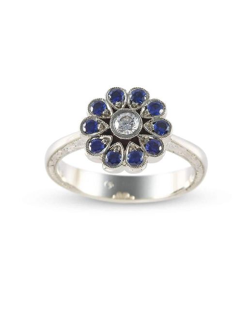 Affianced Jewellery | Multicolor Flower Ring | Lyst