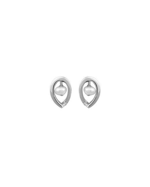 September Rose - Metallic 9kt White Gold Maia Earrings Down - Lyst