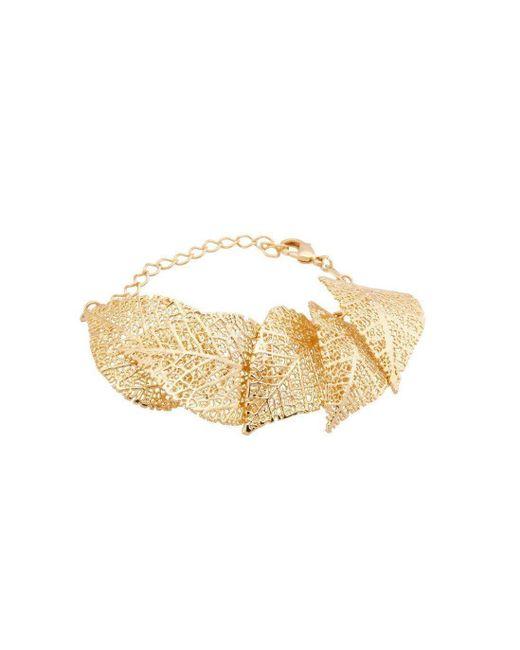 Amazona Secrets - Multicolor 18kt Gold 5 Leaf Savannah Leaf Bracelet - Lyst