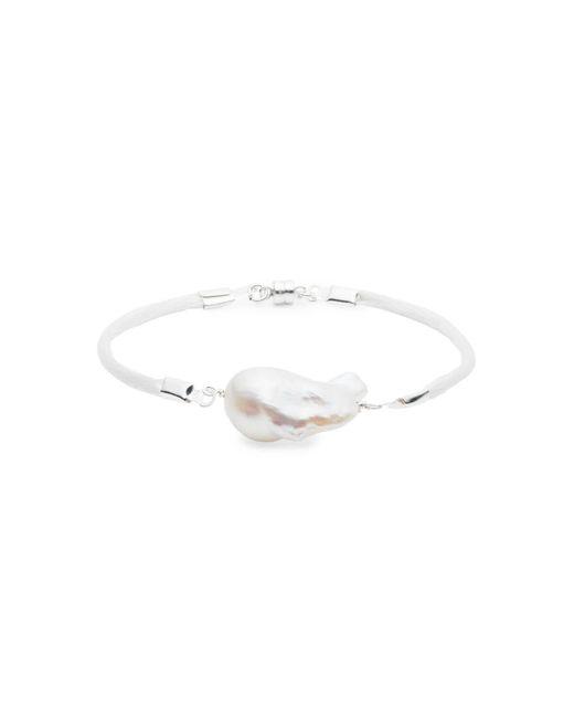 JEAN JOAILLERIE - Multicolor Baroque Freshwater Pearl & Satin Bracelet - Silver - Lyst
