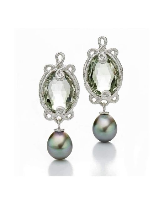 Brigitte Adolph Jewellery Design | Multicolor Undine White Gold Earrings With Tahitian Pearls | Lyst