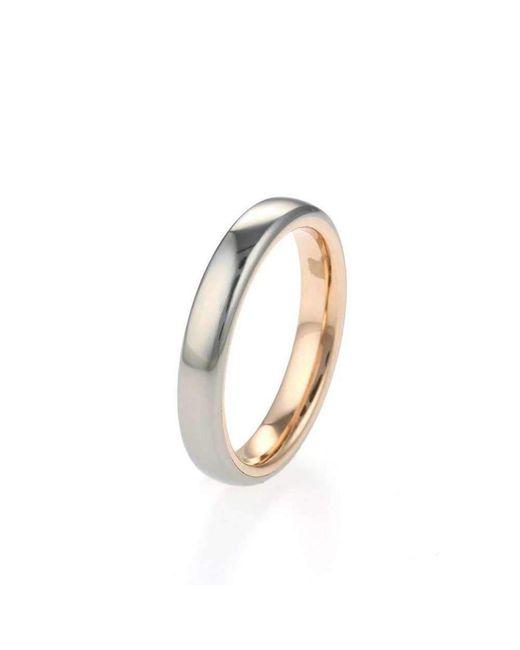 Prism Design - Metallic Titanium And Rose Gold Band - Lyst