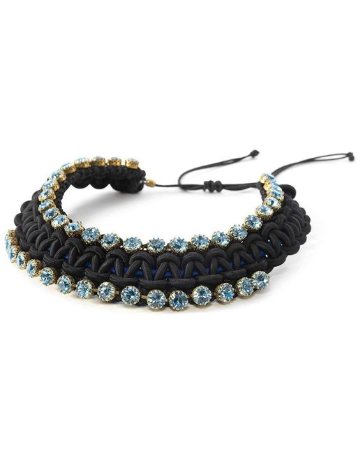 BuDhaGirl - Blue Smn Crystal Bib Necklace | - Lyst
