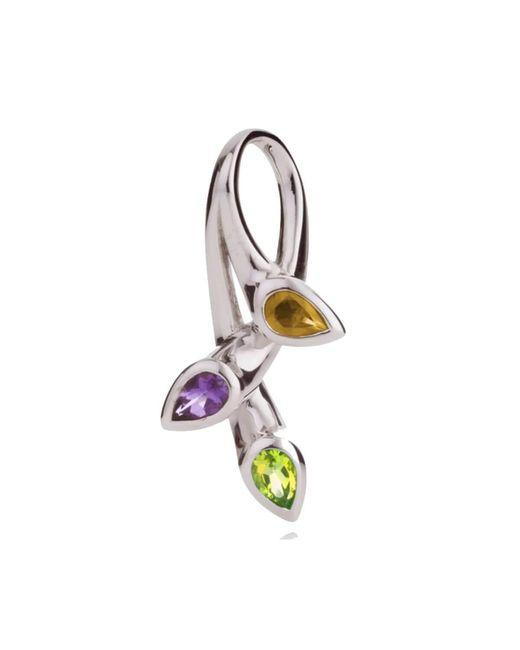 MANJA Jewellery - Multicolor Kazo Peridot, Citrine & Amethyst Pendant - Lyst