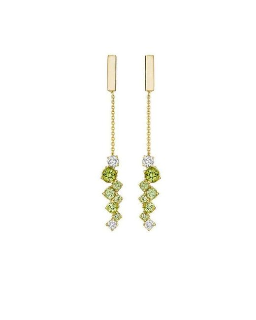 Madstone Design | Metallic Melting Ice Peridot Bar Drop Earrings | Lyst