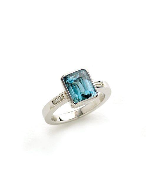 Julia Lloyd George - Metallic 9kt White Gold, Zircon And Diamond Ring - Lyst