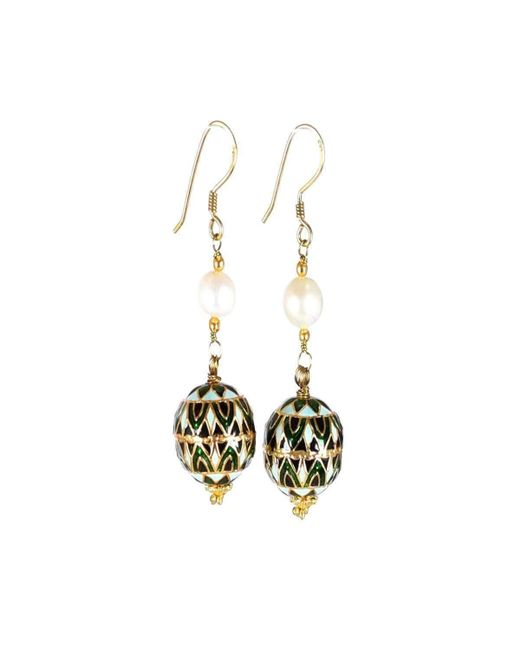 M's Gems by Mamta Valrani | Multicolor Panache Hook Earrings With Freshwater Pearl | Lyst