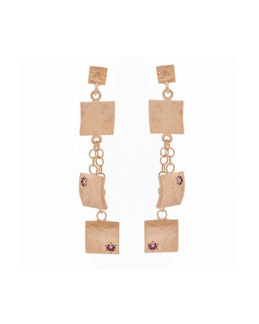 Mishanto London - Multicolor Veneto Drop Earrings With Garnet - Lyst