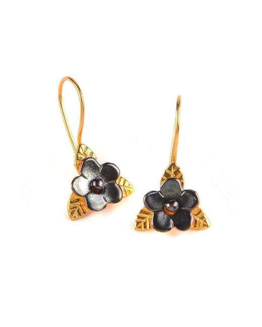 Toosis - Multicolor Duo Color Flower Earrings - Lyst