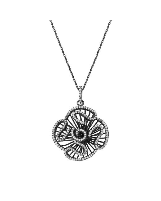 Fei Liu - Metallic Cascade Stud-size Pendant In Black Rhodium - Lyst