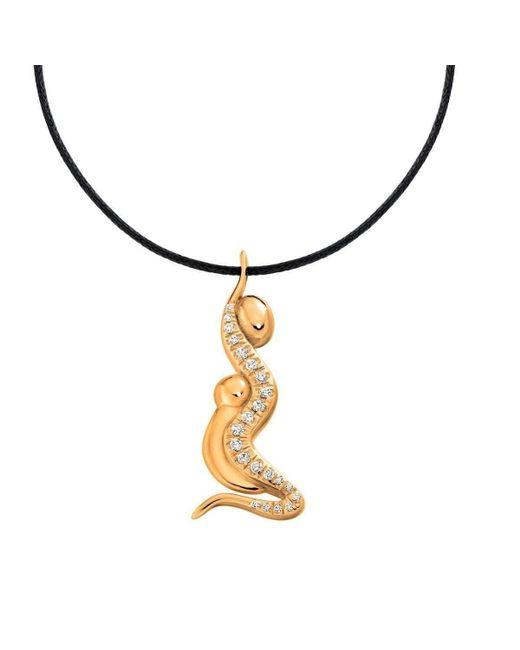Ayalla Joseph | Metallic Unconditional Embrace Necklace Yellow Gold Plated | Lyst