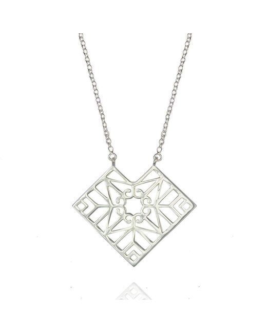 Zefyr Mandala Necklace Sterling Silver GpQ6kJxJ