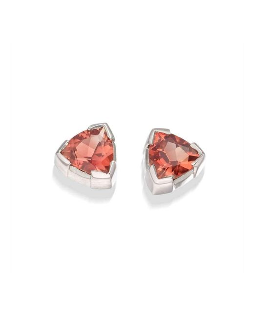 Justin Richardson - Pink Sunstone Trillion Earrings - Lyst