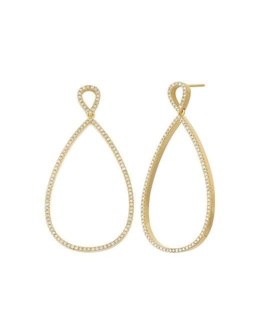 Nehita Jewelry - Metallic Pear Shape Rose Gold Diamond Earrings - Lyst