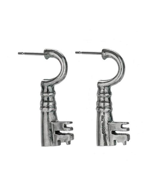 Alison Moore Designs | Metallic Roeberry Sterling Silver Key Earrings | Lyst