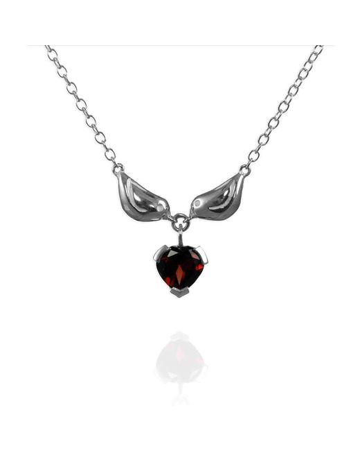 Jana Reinhardt Jewellery - Metallic Sterling Silver Tiny Sparrow & Heart Necklace - Lyst