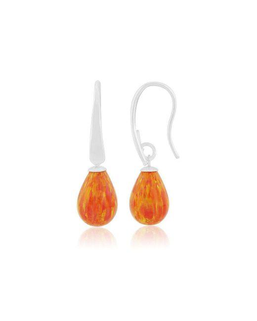 Lavan - Orange Opal Teardrop Earrings - Lyst