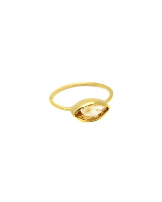 Willow and Clo - Metallic Willow Citrine Ring - Lyst