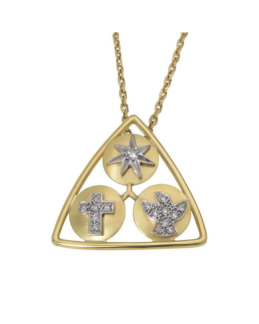 YRYS - Metallic Holy Trinity Necklace - Lyst