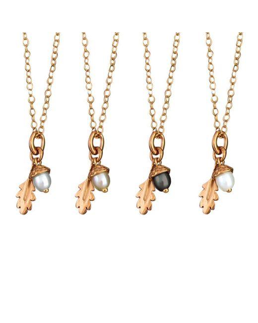 Amanda Cox Jewellery - Metallic 18kt Rose Gold Vermeil Small Acorn Pendant - Lyst