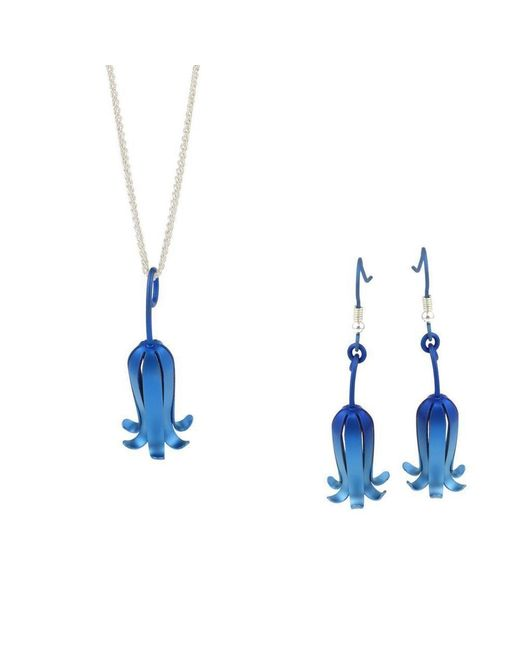 Prism Design - Bluebell Earrings And Pendant Set - Lyst