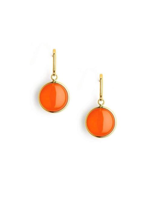 Syna - Multicolor 18kt Orange Chalcedony Chakra Earrings - Lyst