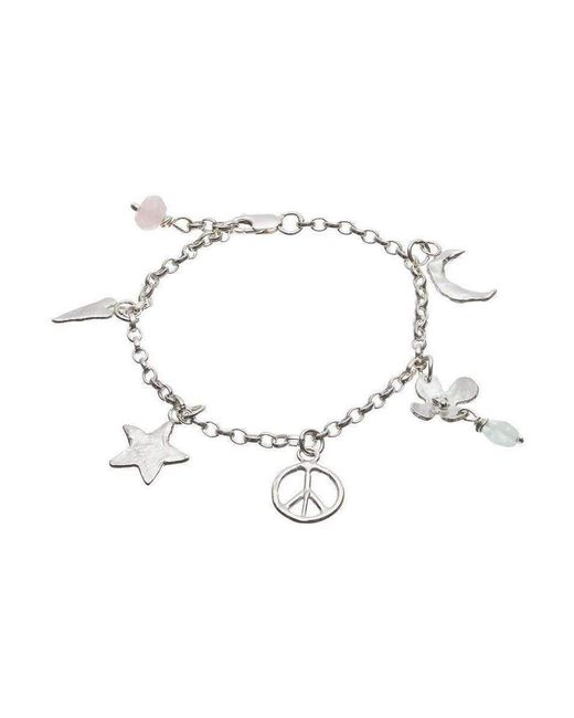 Kate Chell Jewellery - Metallic Peace And Star Bracelet - Lyst
