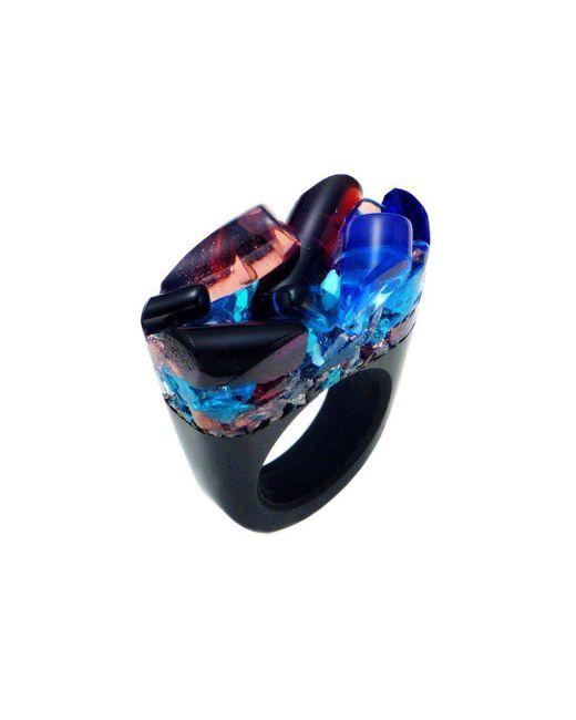 Pasionae - Blue Murano Ring - Delight - Lyst