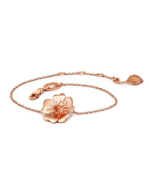 Liz Earle Fair and Fine - Pink Wild Rose Bracelet Rose - Lyst