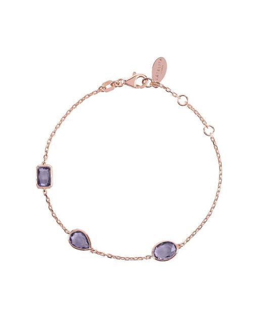Latelita London - Metallic Venice Bracelet Rose Gold Amethyst - Lyst