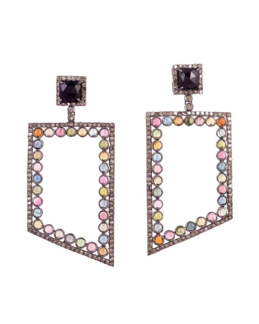 Meghna Jewels   Multicolor Bora Bora Tourmaline Earrings   Lyst