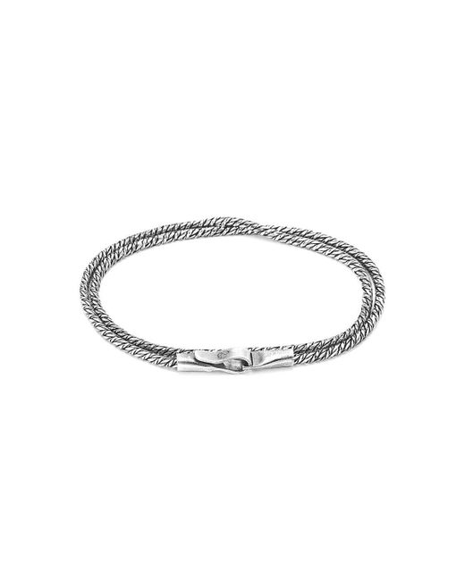Anchor & Crew - Metallic Forestay Double Sail Silver Chain Bracelet for Men - Lyst