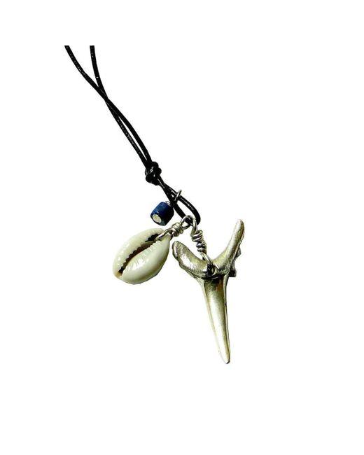 Beryl Dingemans Jewellery - Metallic Silver Shark Tooth Beach Necklace - Lyst