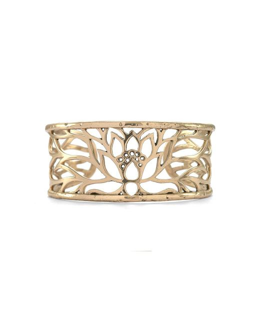 House of Alaia | Metallic Lotus Cuff Bracelet In Bronze | Lyst