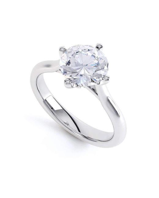 Serendipity Diamonds | Metallic Naomi 950 Platinum Solitaire Engagement Ring | Lyst