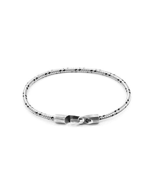 Anchor & Crew - Metallic Grey Dash Talbot Silver & Rope Bracelet - Lyst