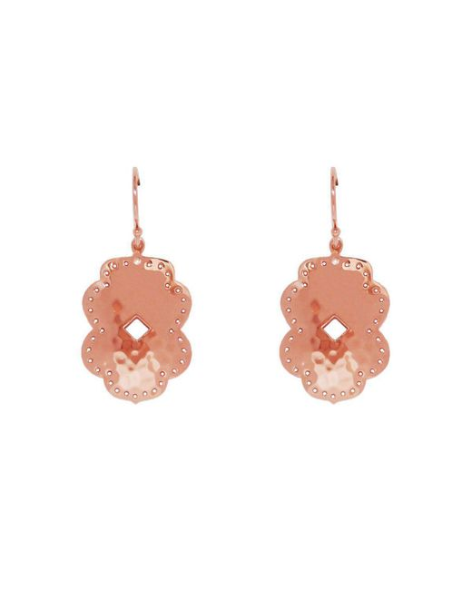 Murkani Jewellery - Multicolor Rose Gold Plated Beleza Medium Drop Earrings - Lyst