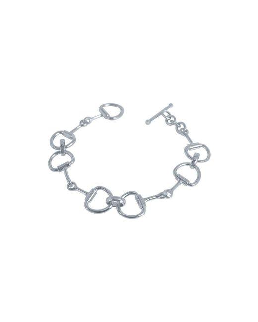 Pegasus Jewellery - Metallic Silver Snaffle Bracelet - Lyst