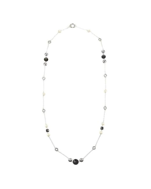 Peter Thomas Roth Fine Jewelry - Multicolor Long Shell Pearl And Black Onyx Sterling Necklace - Lyst