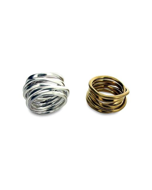 Will Bishop - Metallic Sterling Silver Coiled Ring - Lyst